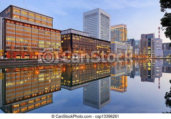 Marunouchi district of Tokyo - csp13396261
