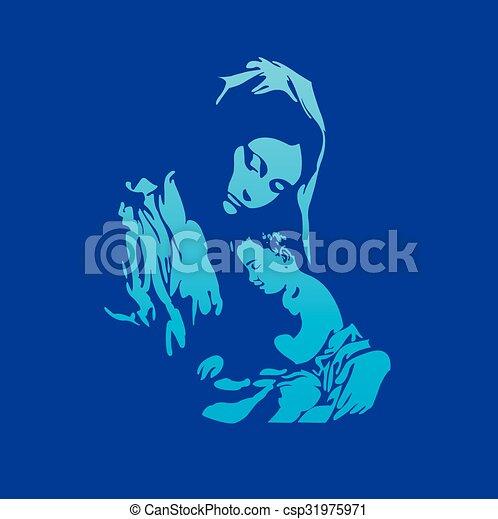mary, 母親, christ, 耶穌 - csp31975971