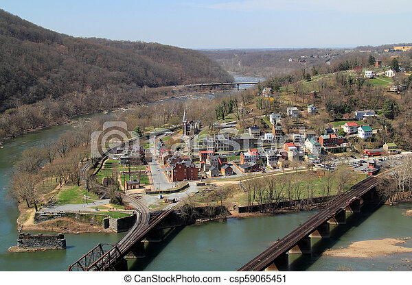 Maryland Heights View of Harpers Ferry - csp59065451