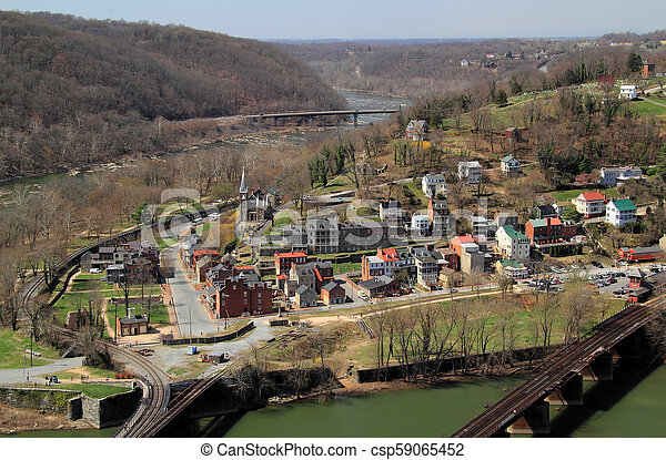 Maryland Heights View of Harpers Ferry - csp59065452