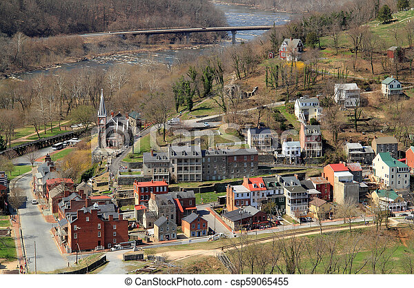 Maryland Heights View of Harpers Ferry - csp59065455