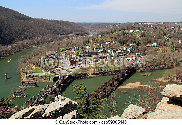 Maryland Heights View of Harpers Ferry - csp59065448