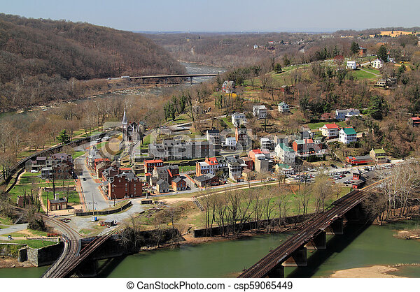 Maryland Heights View of Harpers Ferry - csp59065449