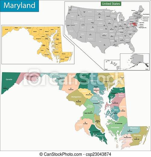 Maryland map - csp23043874