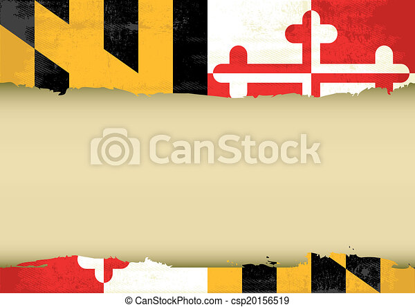 Maryland scratched flag - csp20156519