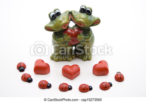 Marzipan heart with beetle - csp15273560