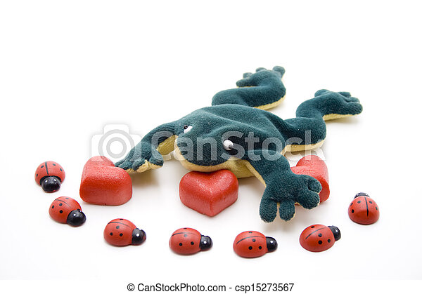 Marzipan heart with beetle - csp15273567
