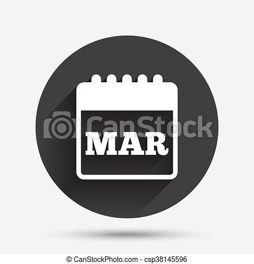 Simbolo De Calendario.Marzo Simbolo Segno Calendario Mese Icon