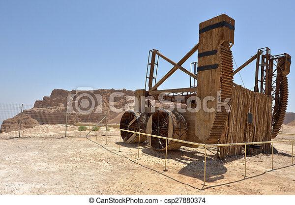 Masada stronghold - Israel - csp27880374