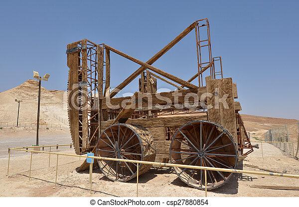 Masada stronghold - Israel - csp27880854