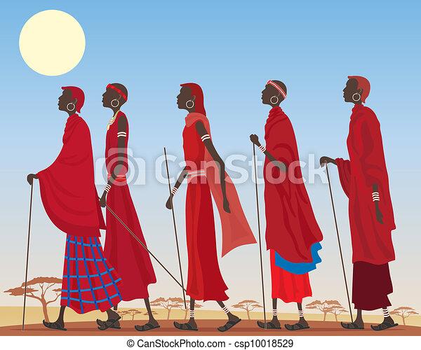 masai, gruppe - csp10018529