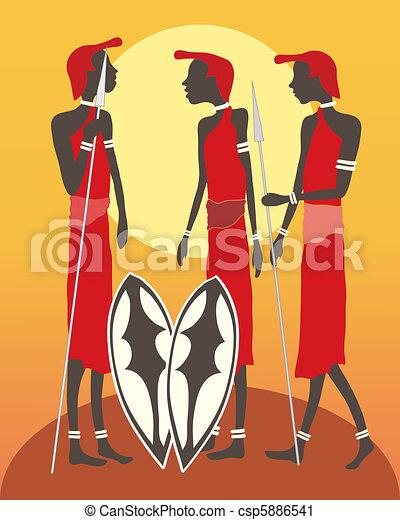 masai, gruppe - csp5886541