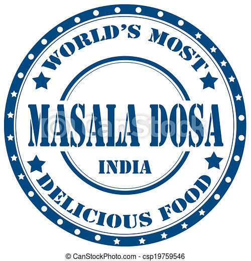 Masala Dosa-stamp - csp19759546