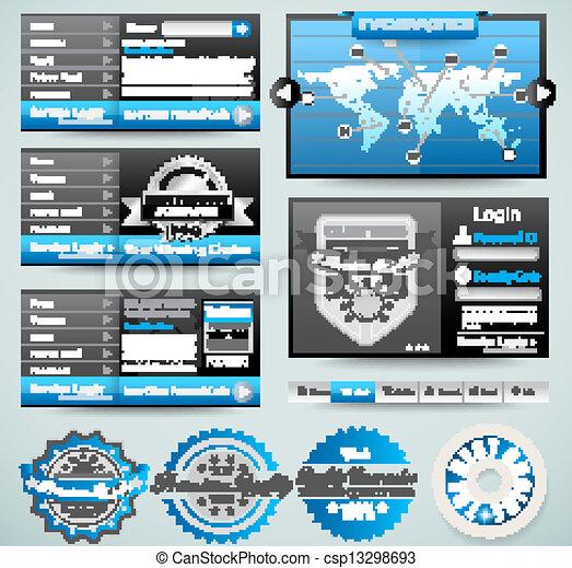 mascherine, web, premio, elements., icone, grafici, infographics, grafico, roba, disegno, frecce, lotto, maestro, histograms, collection:, relativo - csp13298693