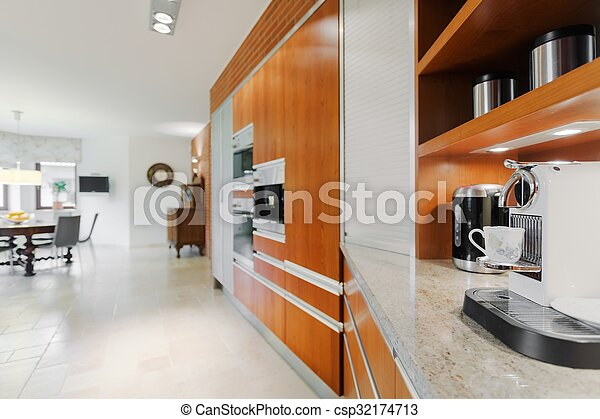 maschine, elegant, bohnenkaffee, kueche  - csp32174713