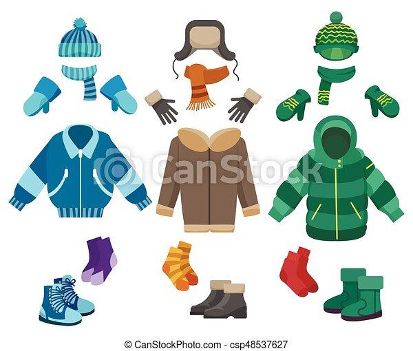 Maschio Abbigliamento Inverno Inverno Fondo Isolato