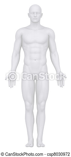 maschio bianco, isolato, posizione, anatomico - csp8030972