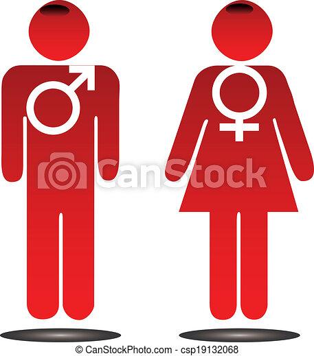 maschio, femmina, segni - csp19132068