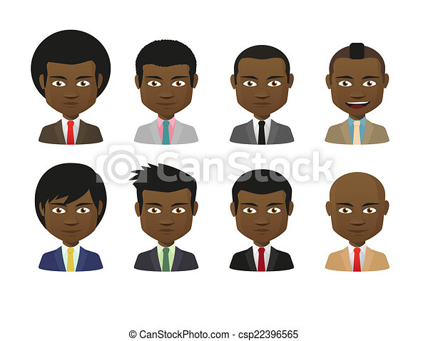 maschio, set, cartone animato, avatar - csp22396565