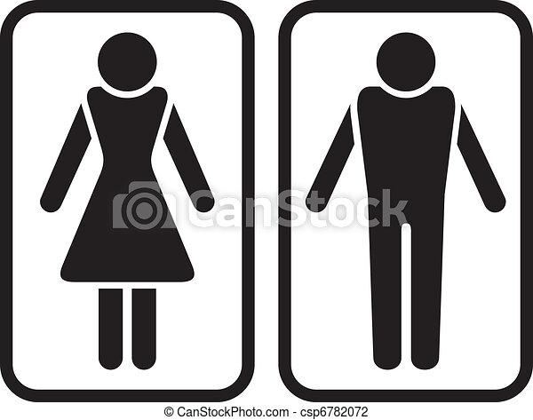 maschio, simbolo., femmina, & - csp6782072