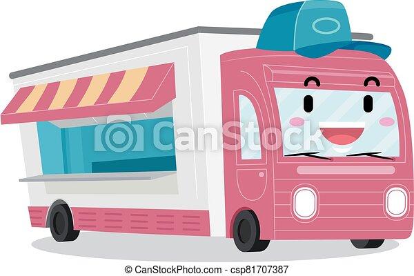 Mascot Food Truck Illustration - csp81707387
