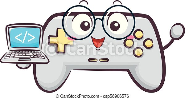 Mascot Game Developer Illustration