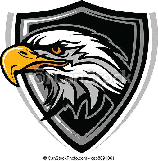 mascot head of an eagle vector illu eagle head vector graphic rh canstockphoto com Bald Eagle Mascot Philly Eagle Mascot Clip Art