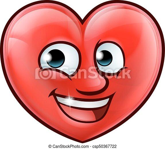 Mascot Heart Cartoon - csp50367722