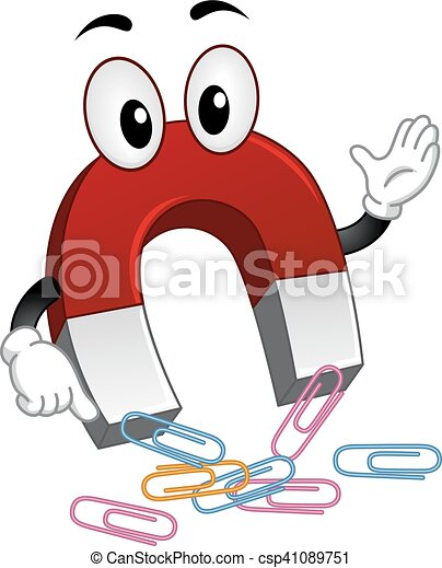 mascot magnet paper clips mascot illustration of a magnet rh canstockphoto com animated magnet clipart animated magnet clipart