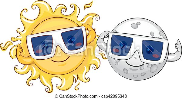 Mascot Sun Moon Solar Eclipse Glasses - csp42095348