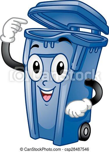 Mascot Trash Can - csp28487546