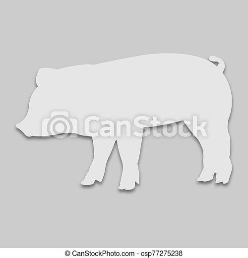 mascota, cerdo, brillante, tono - csp77275238