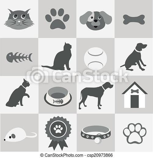 iconos de mascotas listos - csp20973866
