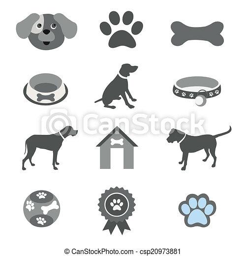 iconos de mascotas listos - csp20973881