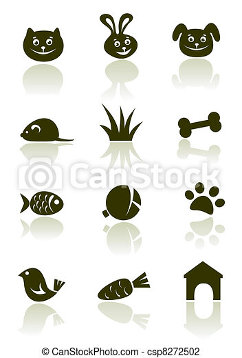 iconos de mascotas listos - csp8272502