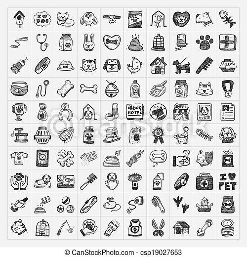 Íconos de mascotas - csp19027653