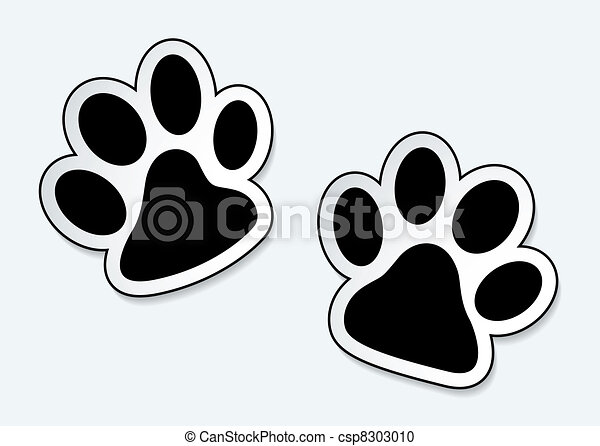 Huellas de patas de mascota - csp8303010