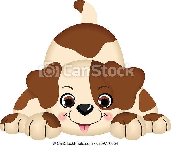 Perro mascota jugando - csp9770654