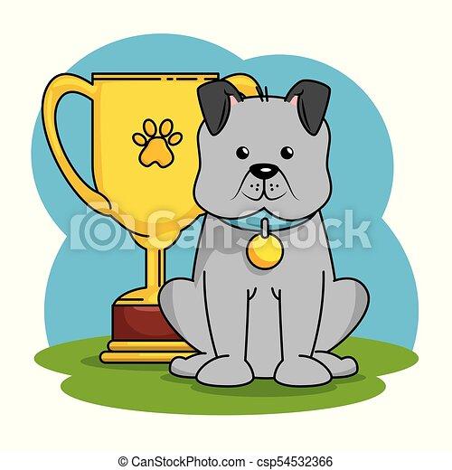 La tienda de mascotas puso iconos - csp54532366