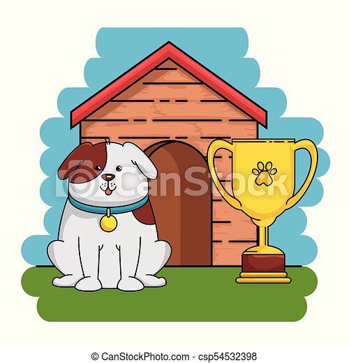 La tienda de mascotas puso iconos - csp54532398