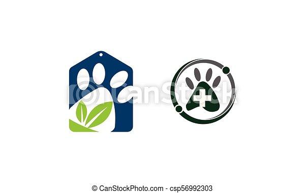 La plantilla de la tienda de mascotas - csp56992303