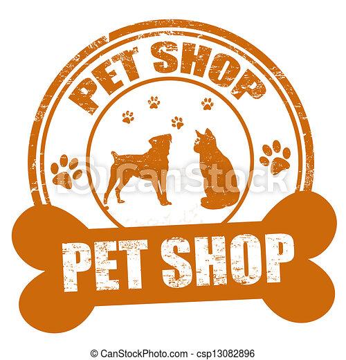 Mascota tienda estampilla tienda grunge mascota ilustraci n sello de goma vector blanco - Grand petshop ...