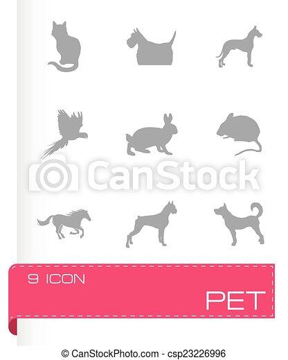 Íconos de mascotas - csp23226996