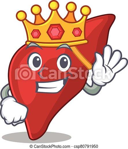 mascote, estilo, fígado, sábio, desenho, saudável, human, rei - csp80791950