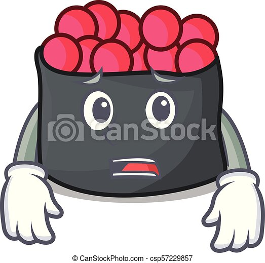 mascote, estilo, ikura, amedrontado, caricatura - csp57229857