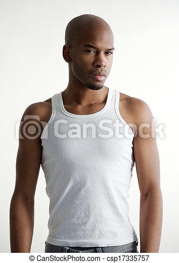 Masculine black male fashion model  - csp17335757