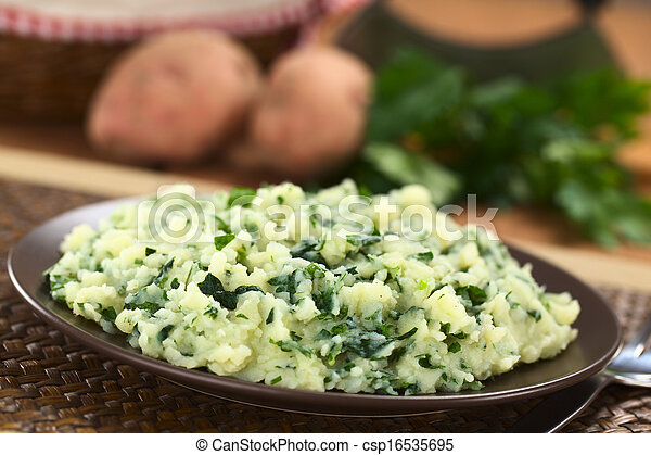 Mashed Potatoes with Herbs - csp16535695