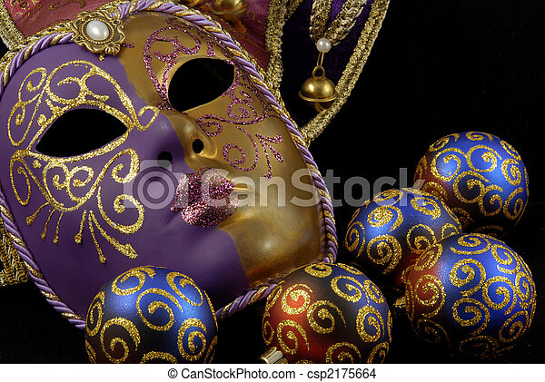 Mask and baubles - csp2175664