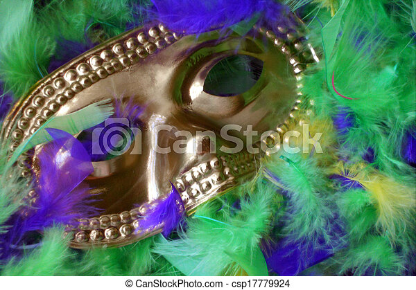 Mask & Feathers - csp17779924