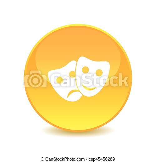 mask icon on the background , vector - csp45456289